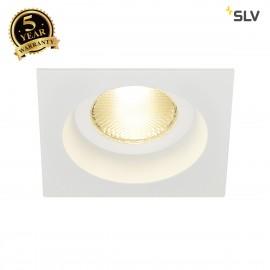 SLV 161301 CONTONE downlight, rigid,square, white, 13W LED, warmwhite