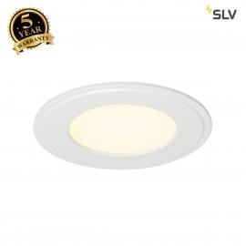 SLV 162703 SENSER recessed ceiling light,round, white, 6W SMD LED,120°, 3000K