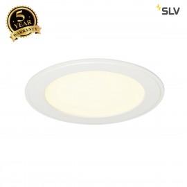 SLV 162713 SENSER recessed ceiling light,round, white, 10W SMD LED,120°, 3000K