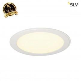 SLV 162723 SENSER recessed ceiling light,round, white, 14W SMD LED,120°, 3000K