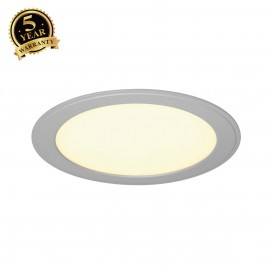 SLV 162753 SENSER recessed ceiling light,round, silver-grey, 14W SMDLED, 120°, 3000K
