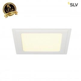 SLV 162773 SENSER recessed ceiling light,square, white, 10W SMD LED,120°, 3000K