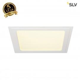 SLV 162783 SENSER recessed ceiling light,square, white, 14W SMD LED,120°, 3000K
