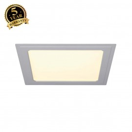 SLV 162813 SENSER recessed ceiling light,square, silver-grey, 14W SMDLED, 120°, 3000K
