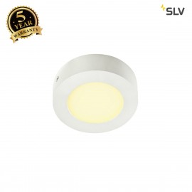 SLV 162903 SENSER wall and ceiling light,round, white, 6W SMD LED,120°, 3000K