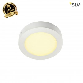 SLV 162913 SENSER wall and ceiling light,round, white, 10W SMD LED,120°, 3000K