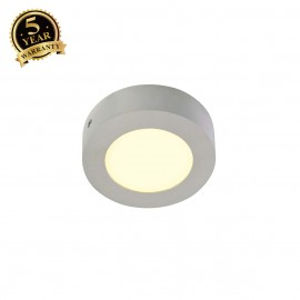 SLV 162933 SENSER wall and ceiling light,round, silver-grey, 6W SMDLED, 120°, 3000K
