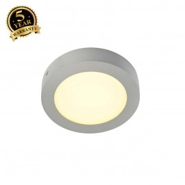 SLV 162943 SENSER wall and ceiling light,round, silver-grey, 10W SMDLED, 120°, 3000K