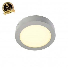 SLV 162953 SENSER wall and ceiling light,round, silver-grey, 14W SMDLED, 120°, 3000K