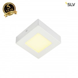 SLV 162963 SENSER wall and ceiling light,square, white, 6W SMD LED,120°, 3000K