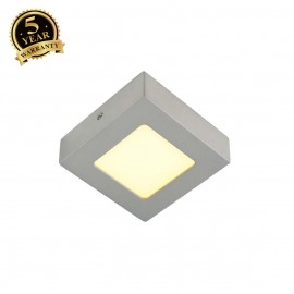 SLV 162993 SENSER wall and ceiling light,square, silver-grey, 6W SMDLED, 120°, 3000K