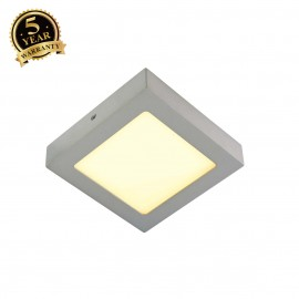 SLV 163003 SENSER wall and ceiling light,square, silver-grey, 10W SMDLED, 120°, 3000K