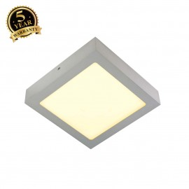 SLV 163013 SENSER wall and ceiling light,square, silver-grey, 14W SMDLED, 120°, 3000K