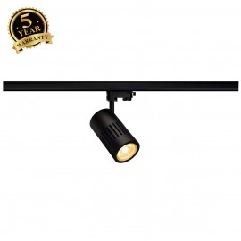 SLV 176010 STRUCTEC LED 24W, round, black, 3000K, 60°, incl. 3-phaseadapter