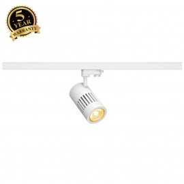 SLV 176011 STRUCTEC LED 24W, round, white, 3000K, 60°, incl. 3-phaseadapter
