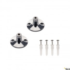 SLV 186302 Wall bracket for low-voltagewire system, chrome, 2 pieces,3cm