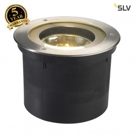 SLV 227090 ADJUST QRB111 inground fitting, round, stainless steel 304,max. 50W, IP67
