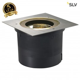 SLV 227092 ADJUST QRB111 inground fitting, square, stainless steel 304, max. 50W, IP67