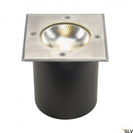 SLV 227604 ROCCI inground fitting, square, stainless steel 316, 6W COBLED, 3000K, incl. driver