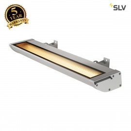 SLV 227734 VANO WING, outdoor floodlight, LED, 3000K, silver-grey, W/H/D 63.5/6.5/20.5 cm