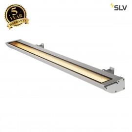 SLV 227744 VANO WING, outdoor floodlight, LED, 3000K, silver-grey, W/H/D 119.5/6.5/20.5 cm