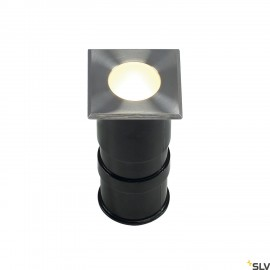 SLV 228342 POWER TRAIL-LITE SQUARE,stainless steel 316, 1W LED,3000K, IP67