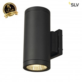 SLV 228525 ENOLA_C OUT UP-DOWN wall light, round, anthracite, 9W LED,3000K