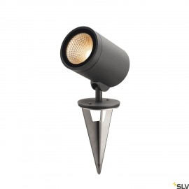 SLV 228555 HELIA, outdoor pathway and floor stand, LED, 3000K, round, anthracite, 15W, can be converted to a spike luminaire