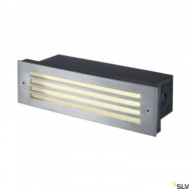 SLV 229110 BRICK MESH LED STAINLESS STEEL316 recessed wall light, 4WLED, warm white, IP54