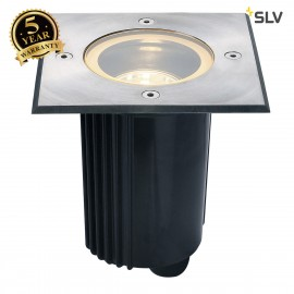 SLV 229334 DASAR 115 MR16, adjustable,square, stainless steel 316,max. 35W, IP67