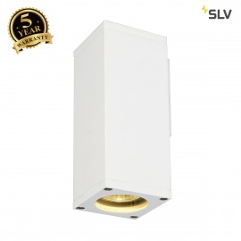 SLV 229521 THEO WALL OUT, wall light,square, white, GU10, max. 35W