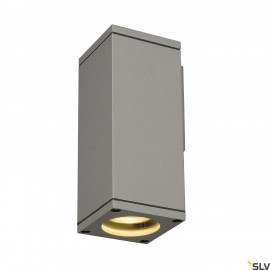 SLV 229524 THEO WALL OUT, wall light,square, silver-grey, GU10,max. 35W