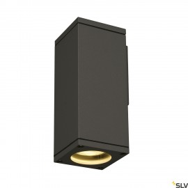 SLV 229525 THEO WALL OUT, wall light,square, anthracite, GU10, max.35W