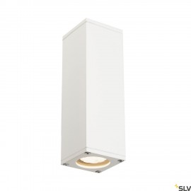 SLV 229531 THEO UP/DOWN OUT wall light,square, white, GU10, max.2x35W