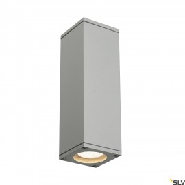 SLV 229532 THEO UP/DOWN OUT wall light,square, silver-grey GU10, max.2x35W