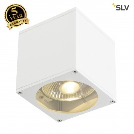 SLV 229561 BIG THEO WALL OUT wall light,square, white, ES111, max. 75W