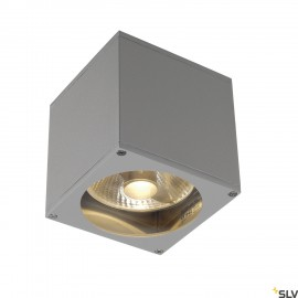 SLV 229564 BIG THEO WALL OUT wall light,square, silver-grey, ES111,max. 75W