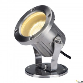 SLV 229741 NAUTILUS, outdoor floodlight, QPAR51, stainless steel, max. 35W, incl. 1.5m cable