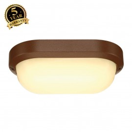 SLV 229937 TERANG 2 wall and ceilinglight, oval, rust, 11W LED,3000K, IP44