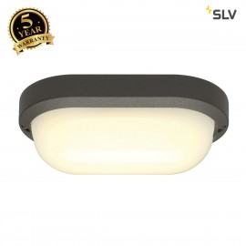 SLV 229945 TERANG 2 XL wall and ceilinglight, oval, anthracite, 22WLED, 3000K, IP44