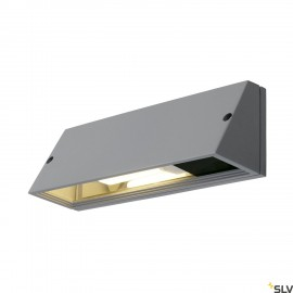 SLV 230034 PEMA SQUARE wall light,silver-grey, E27, max. 15W