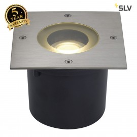 SLV 230174 WETSY LED DISK 300 ingroundfitting, square, stainl steel316, incl. 7.7W LED