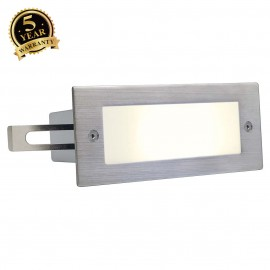 SLV 230232 BRICK LED 16 STAINLESS STEEL304 recessed wall light,brushed, 1W, 3000K, IP44