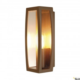 SLV 230657 MERIDIAN BOX 2 wall light,rust, E27, max. 25W, IP54