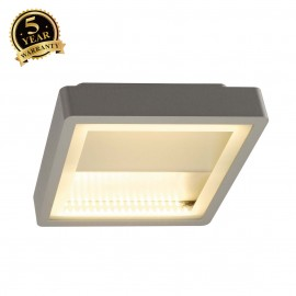 SLV 230894 INDIGLA WING ceiling light,silver-grey, 2x 36 SMD LED,15W, 3000K, IP54