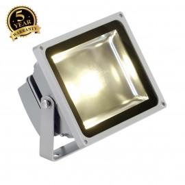 SLV 231112 LED OUTDOOR BEAM, silver-grey,30W, 3000K, 100°, IP65