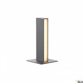 SLV 232155 H-POL, pathway and floor stand, single-headed, LED, 3000K, anthracite, L/W/H 16.5/16.5/36 cm