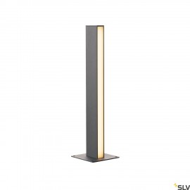 SLV 232165 H-POL, pathway and floor stand, single-headed, LED, 3000K, anthracite, L/W/H 16.5/16.5/66 cm