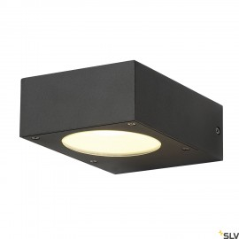SLV 232285 QUADRASYL WL 15 wall light,square, anthracite, GX53, max.11W, IP44