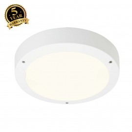 SLV 232421 DRAGAN SENSOR wall and ceilinglight, white, E27, max. 2x24W, IP44, with sensor